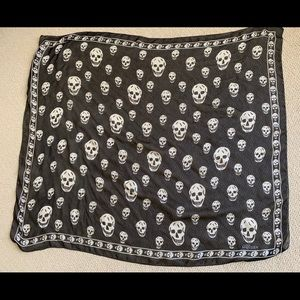Authentic Alexander McQueen skull scarf